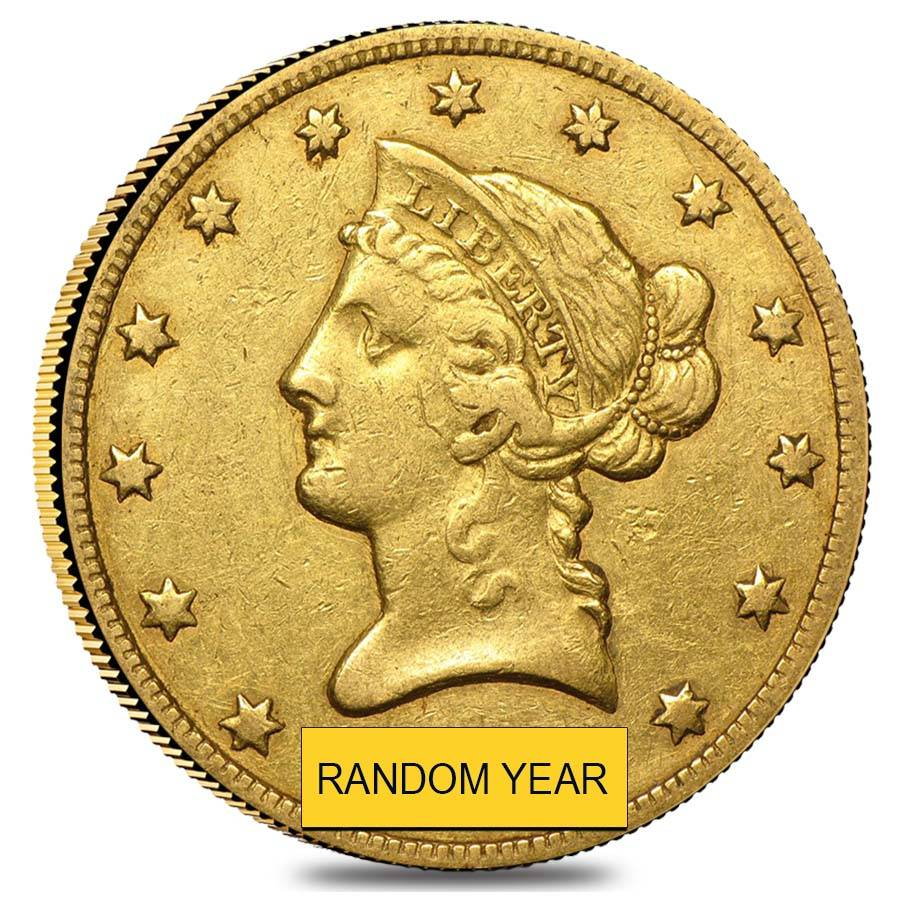 10 Gold Eagle Liberty Head Extra Fine Xf Random Year
