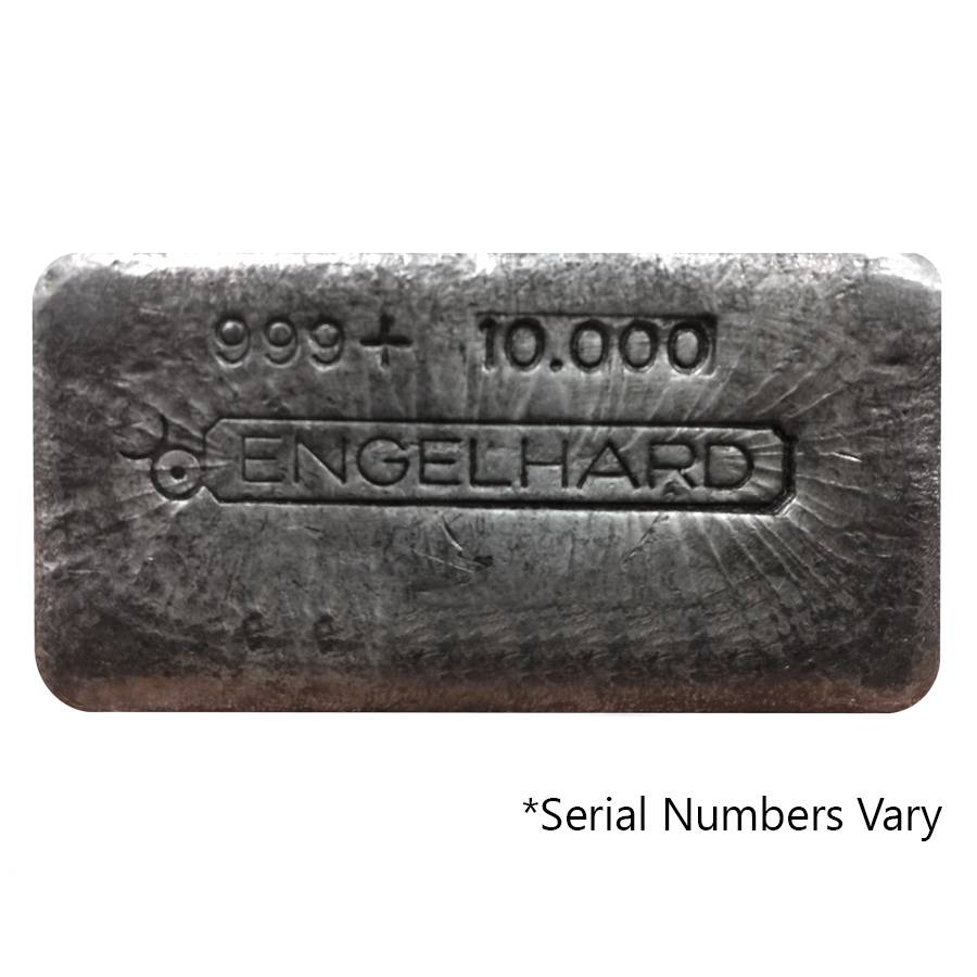 10 Oz Engelhard Silver Bar Poured Bull Logo Bullion
