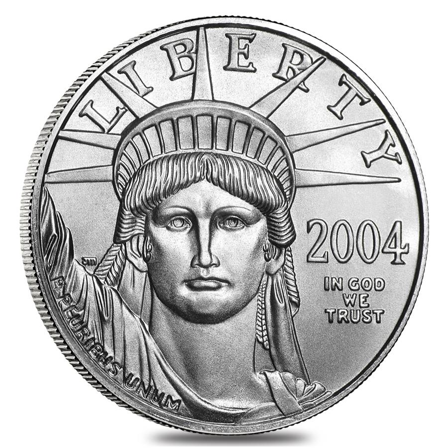 Two Platinum: 2004 1/2 Oz $50 Platinum American Eagle Coin