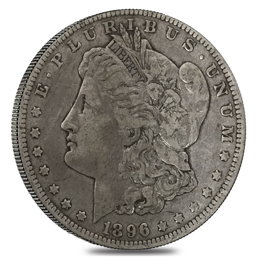 1896 O Silver Morgan Dollar Vf Xf