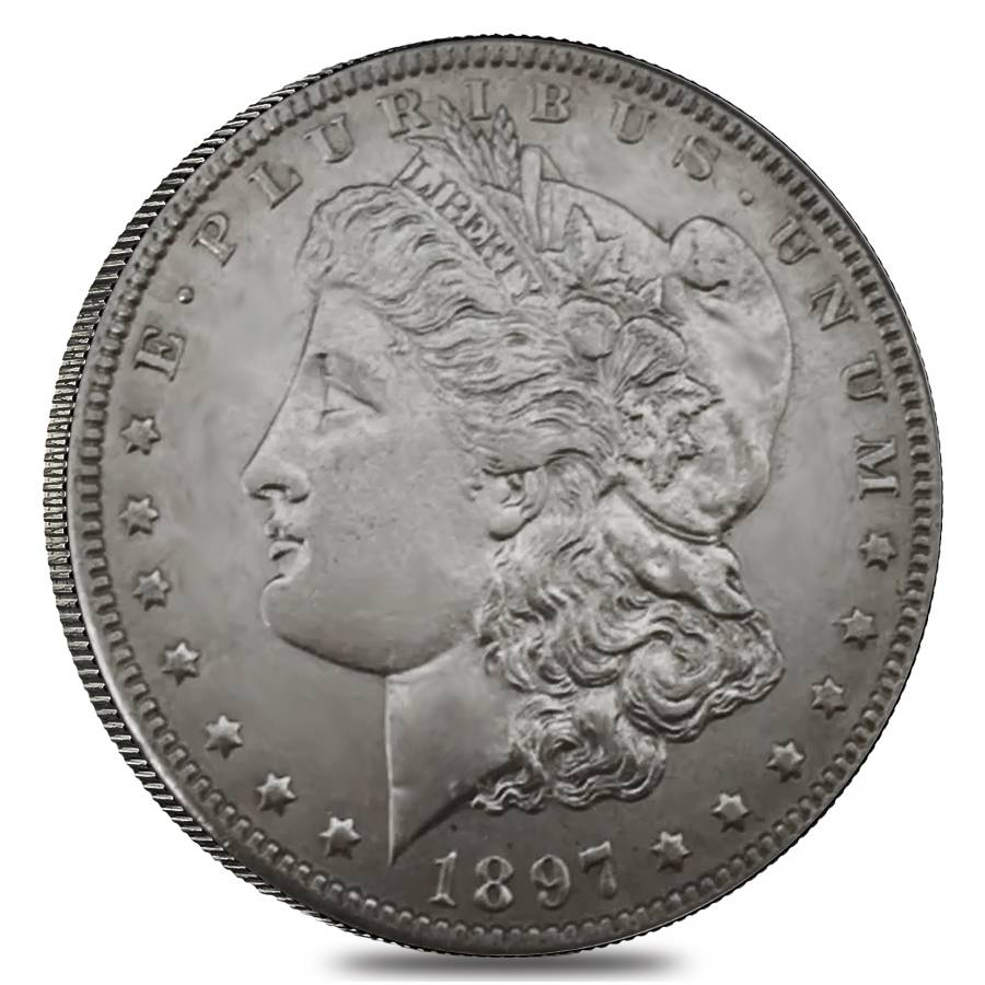 1897 O Silver Morgan Dollar Au