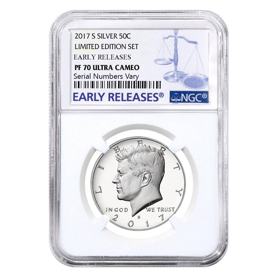 2017 s silver Kennedy half dollar NGC PF 69 Ultra Cameo Early releases
