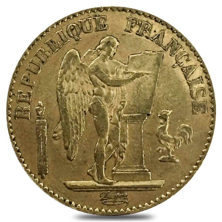 20 francs french lucky angel gold coin random year. Black Bedroom Furniture Sets. Home Design Ideas