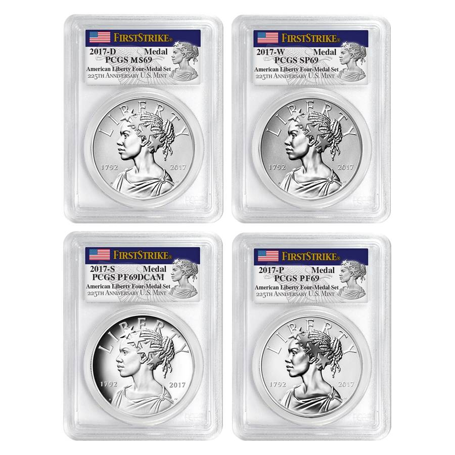 2017-D Liberty 225th Anniversary Silver Medal NGC MS69