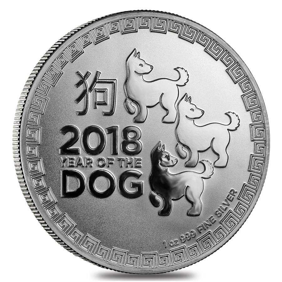 2017 New Zealand $2 Lunar Year Of The Rooster 1 oz .999 Silver Round BU Coin