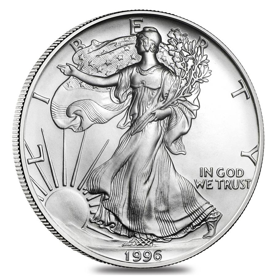 Roll Of 20 1996 1 Oz Silver Eagles Brilliant Uncirculated