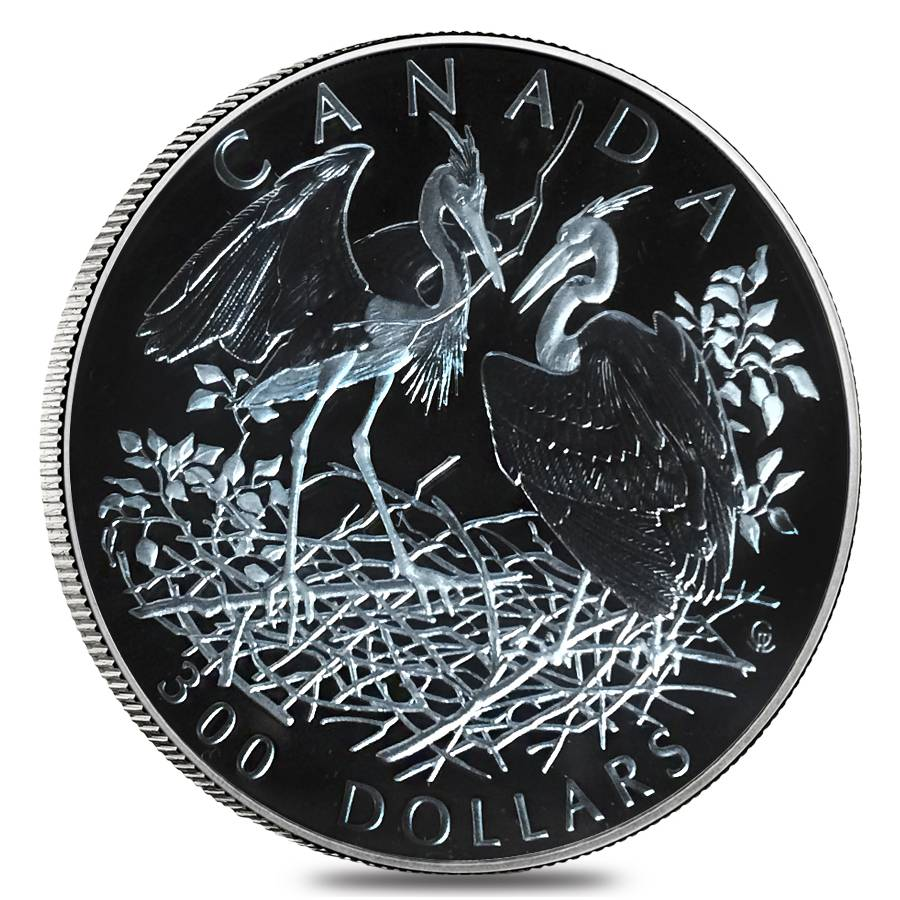 2002 canada oz proof platinum great blue heron 4 coin set. Black Bedroom Furniture Sets. Home Design Ideas