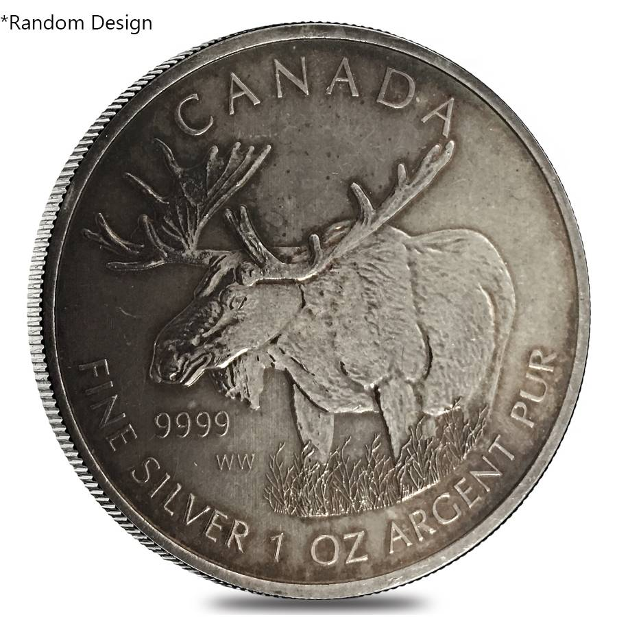 1 Oz Silver Royal Canadian Mint 5 Coin Bullion Exchanges