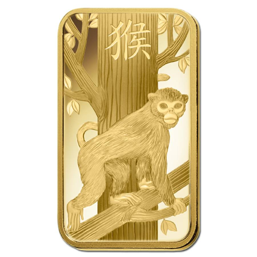 100 gram PAMP Suisse Year of the Monkey Silver Bar In Assay