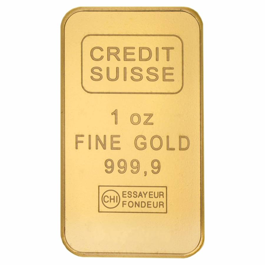 1 Oz Credit Suisse Gold Bar 9999 Fine In Ay