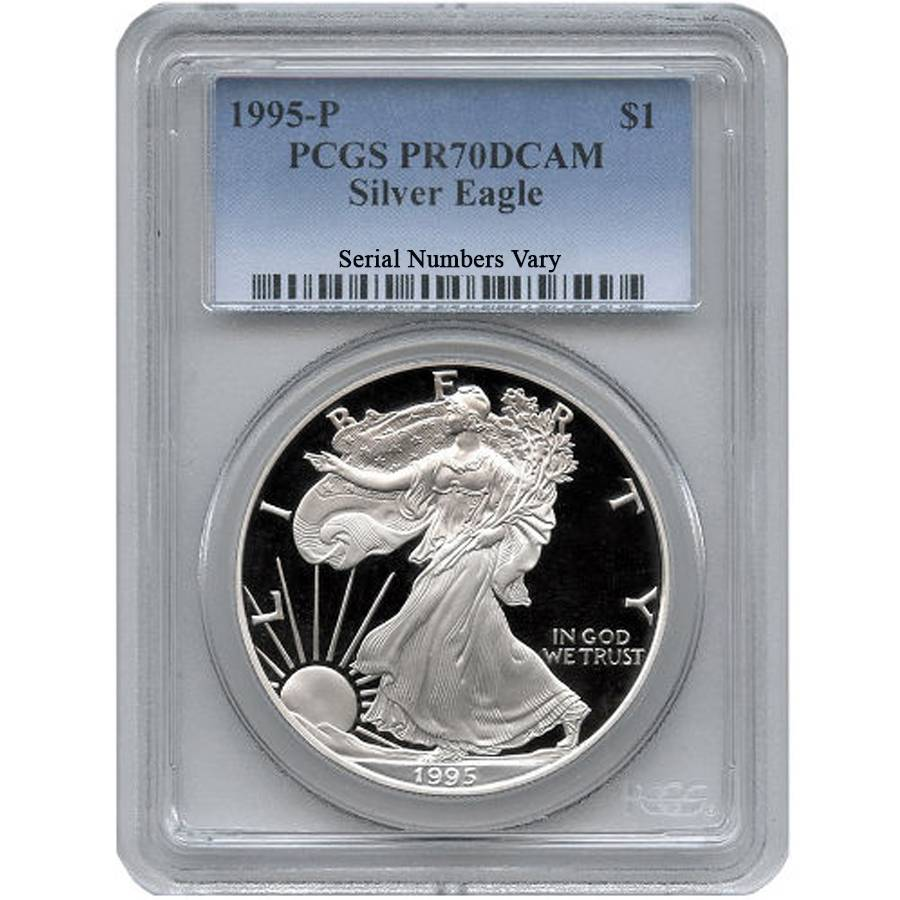 1995 P 1 Oz Silver American Eagle 1 Proof Coin Pcgs Pr 70