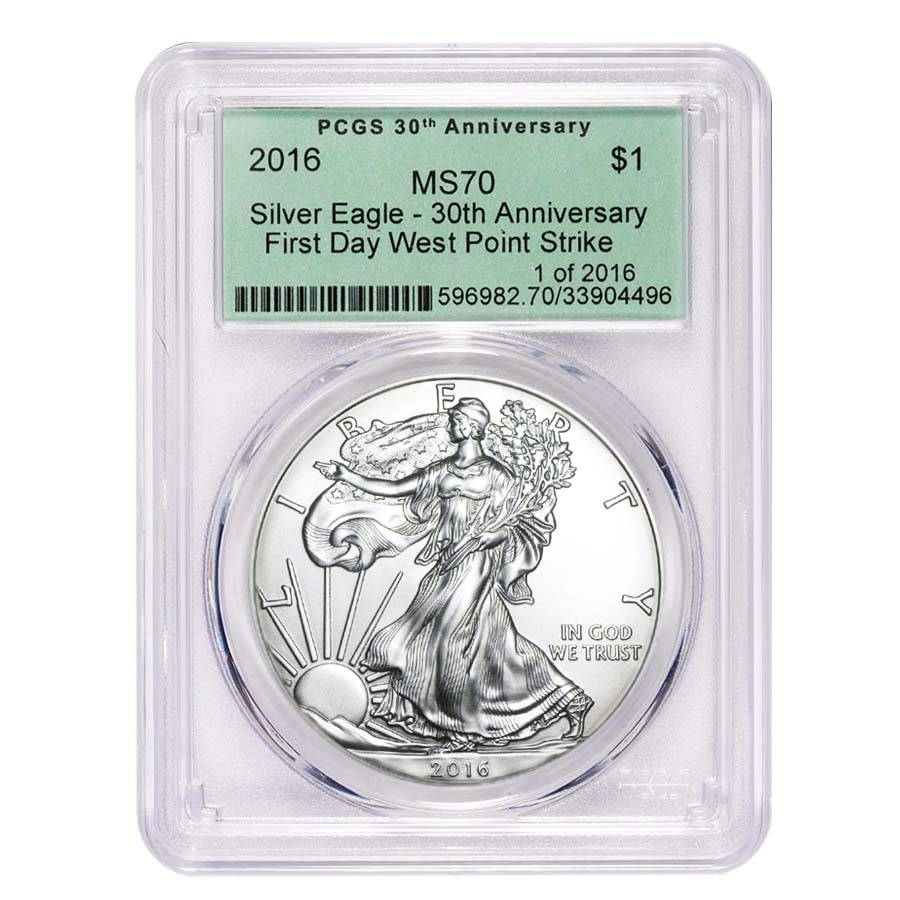 2020 $1 American Silver Eagle PCGS MS70 First Strike West Point Frame