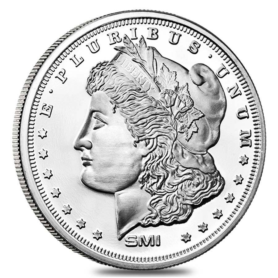 Morgan Dollar Design Sunshine 1 Oz 999 Fine Silver Round