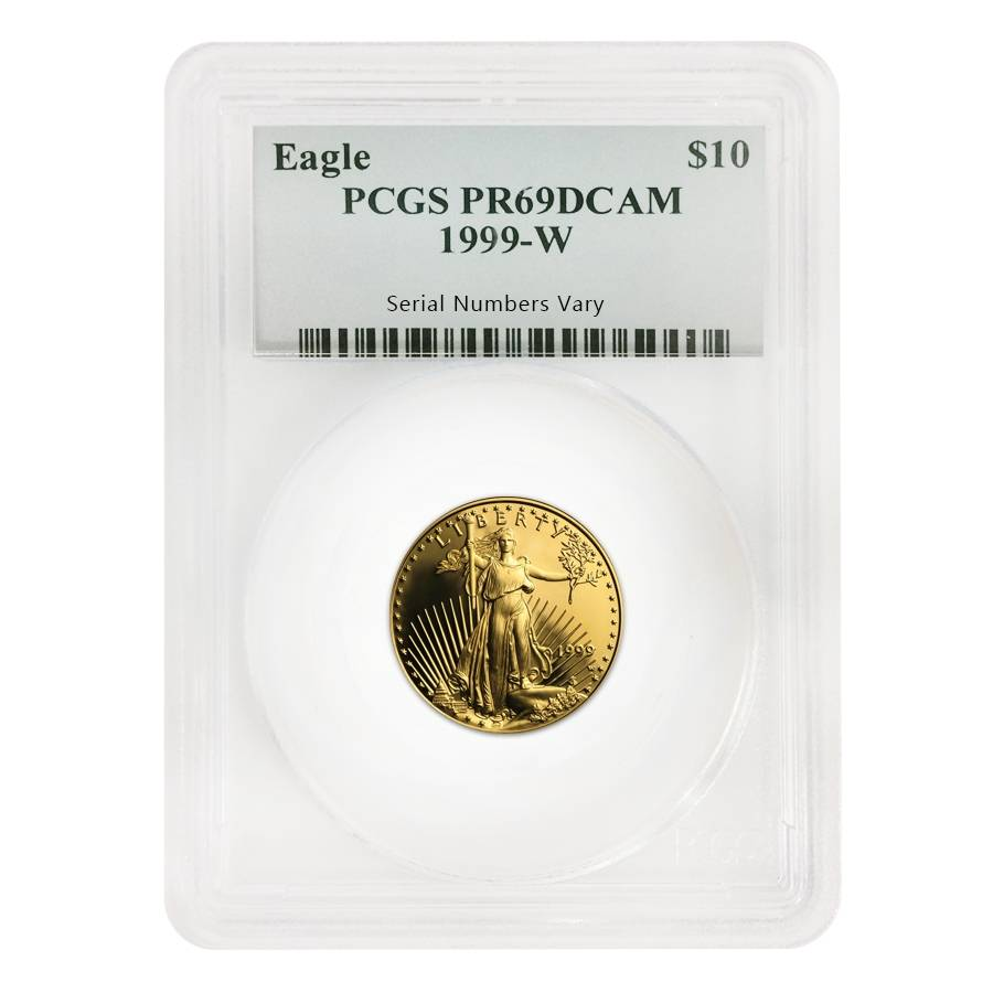 1999 W Proof Gold American Eagle 4 Coin Set Pcgs Pf 69