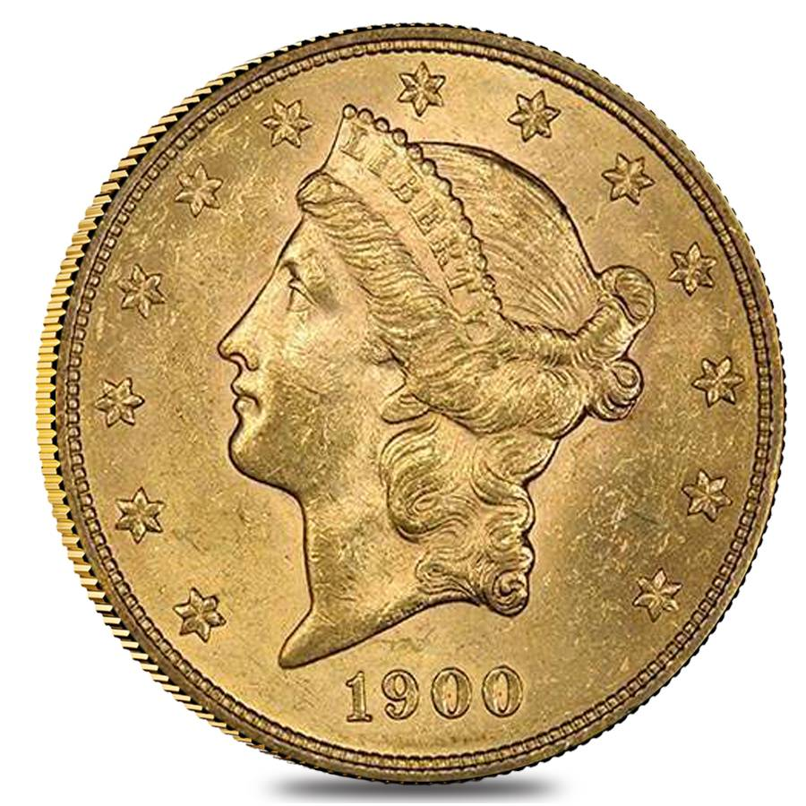 1900 20 Liberty Head Double Eagle Gold Coin Ngc Ms 62