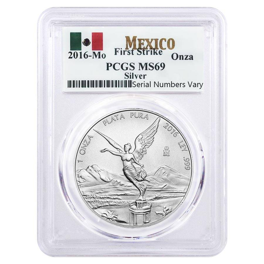 2016 1 Oz Mexican Silver Libertad Coin Pcgs Ms 69 First Strike