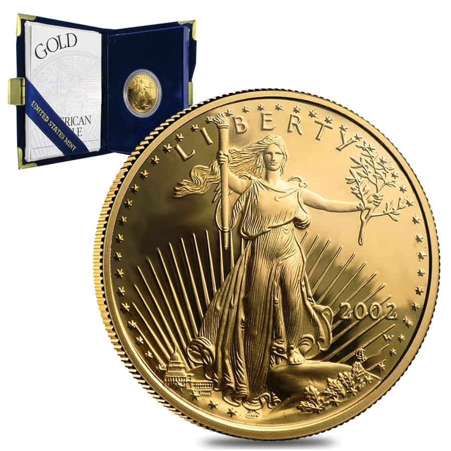 ~35 Direct Fit 22 mm Coin Capsule For US 1//4 oz American Eagle $10 Gold