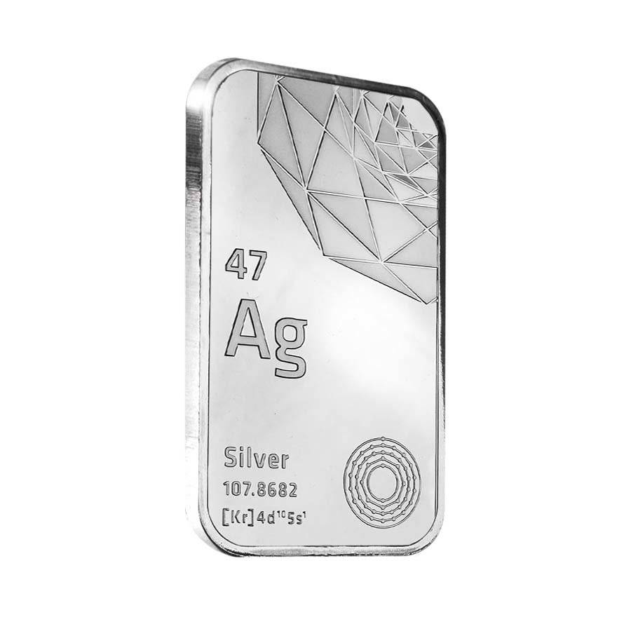 Elemetal Mint 10 Oz Silver Bar 999 Fine Bullion Exchanges