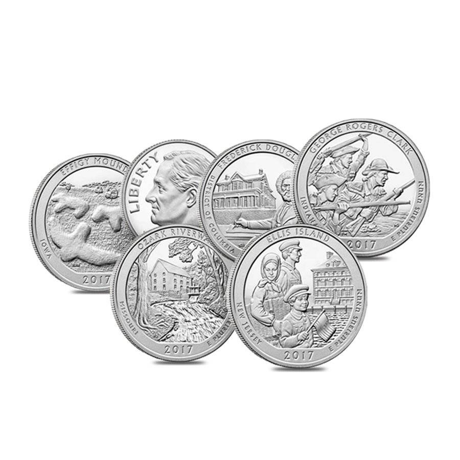 2011 S 90/% SILVER PROOF Parks Quarter Set-NO BOX In Stock