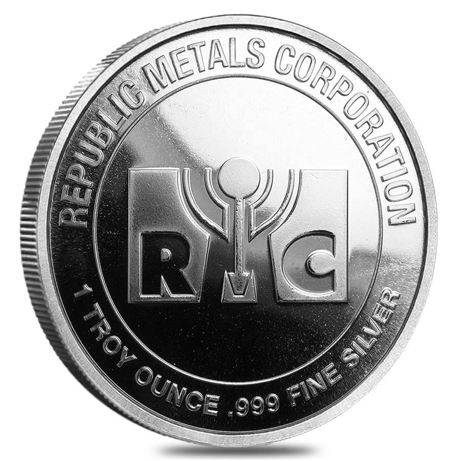1 oz Republic Metals Silver Round .999 Fine (New)