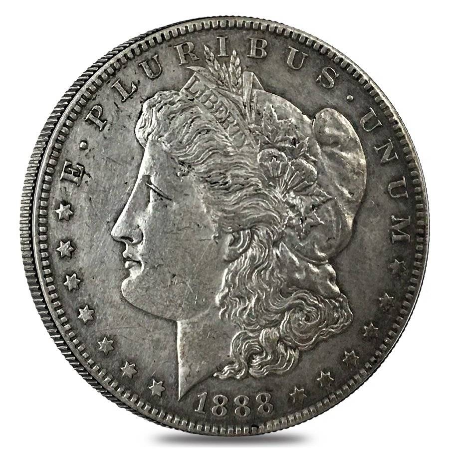 1888 S Silver Morgan Dollar Cleaned Bullion Exchanges