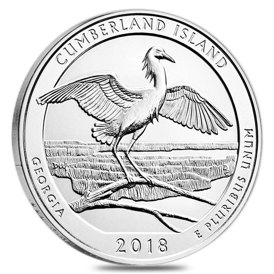 2018 5 oz Silver America the Beautiful ATB Georgia Cumberland Island National Seashore Coin