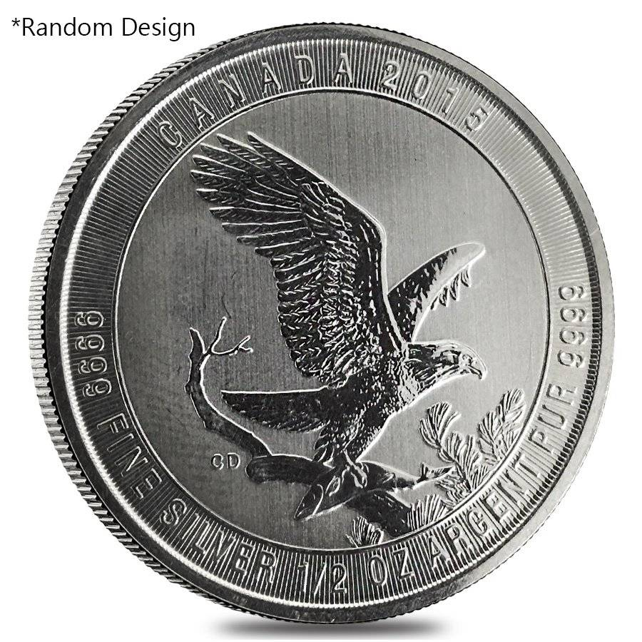 1/2 oz Silver Royal Canadian Mint Coin Random Design (Milky, Cull, Damaged,  Circulated, Cleaned)