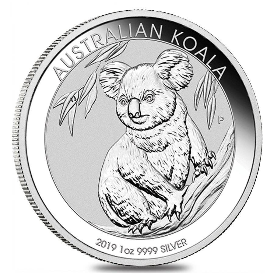 2019 1 Oz Silver Australian Koala Perth Mint Bullion