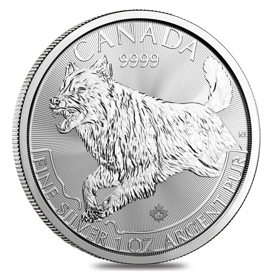 2018 1 Oz Silver Wolf Predator Series Bullion Exchanges