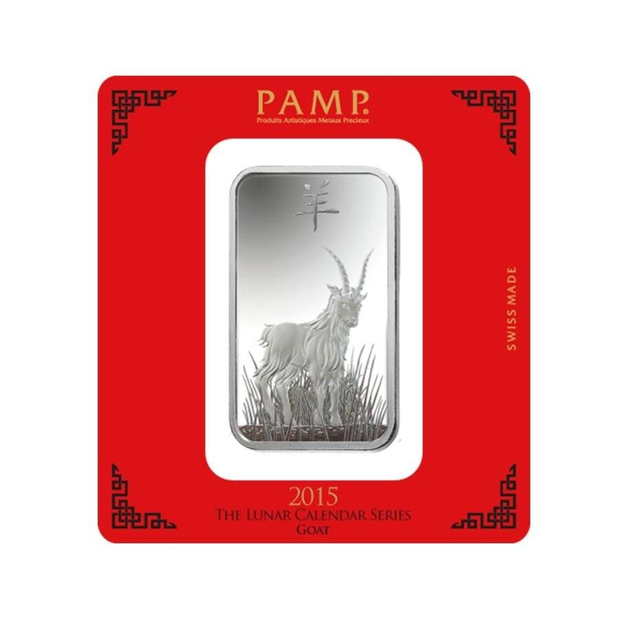 100 Gram Pamp Year Of The Goat Silver Bar Bullion Exchanges