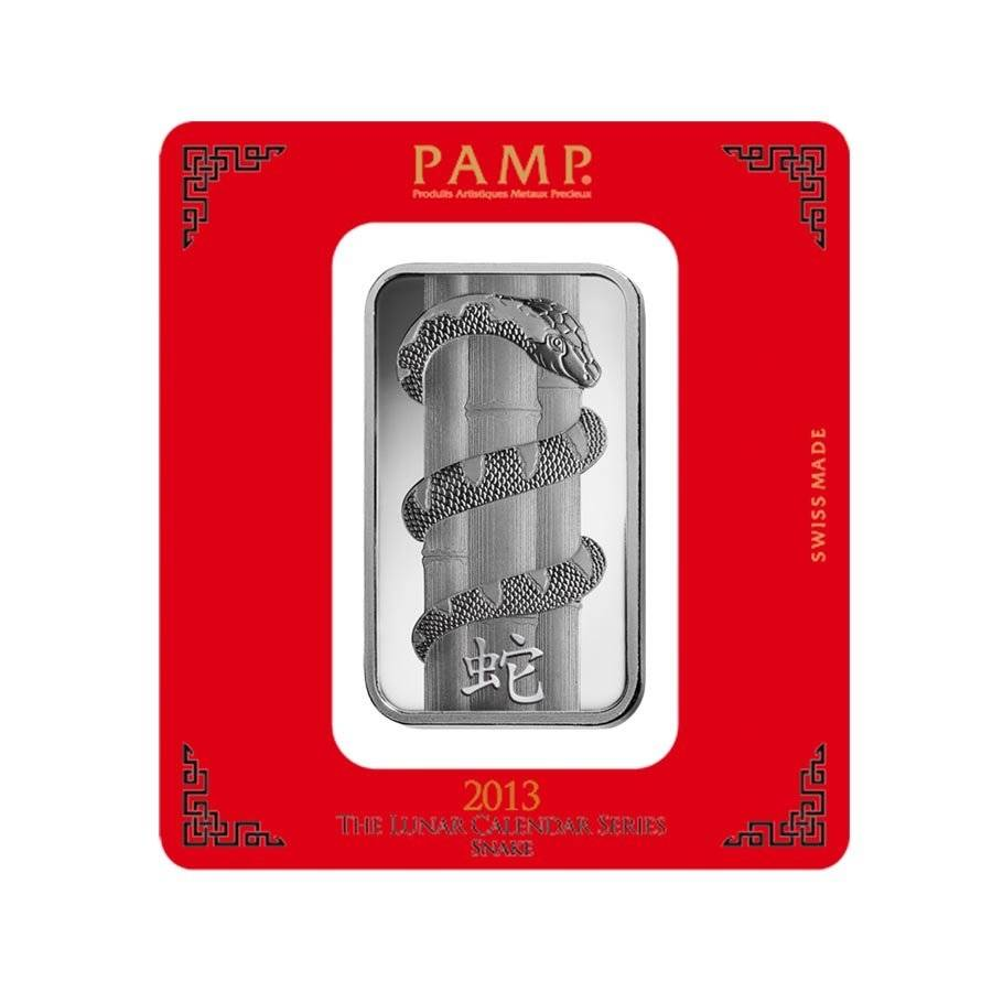 100 Gram Pamp Year Of The Snake Silver Bar Bullion Exchanges