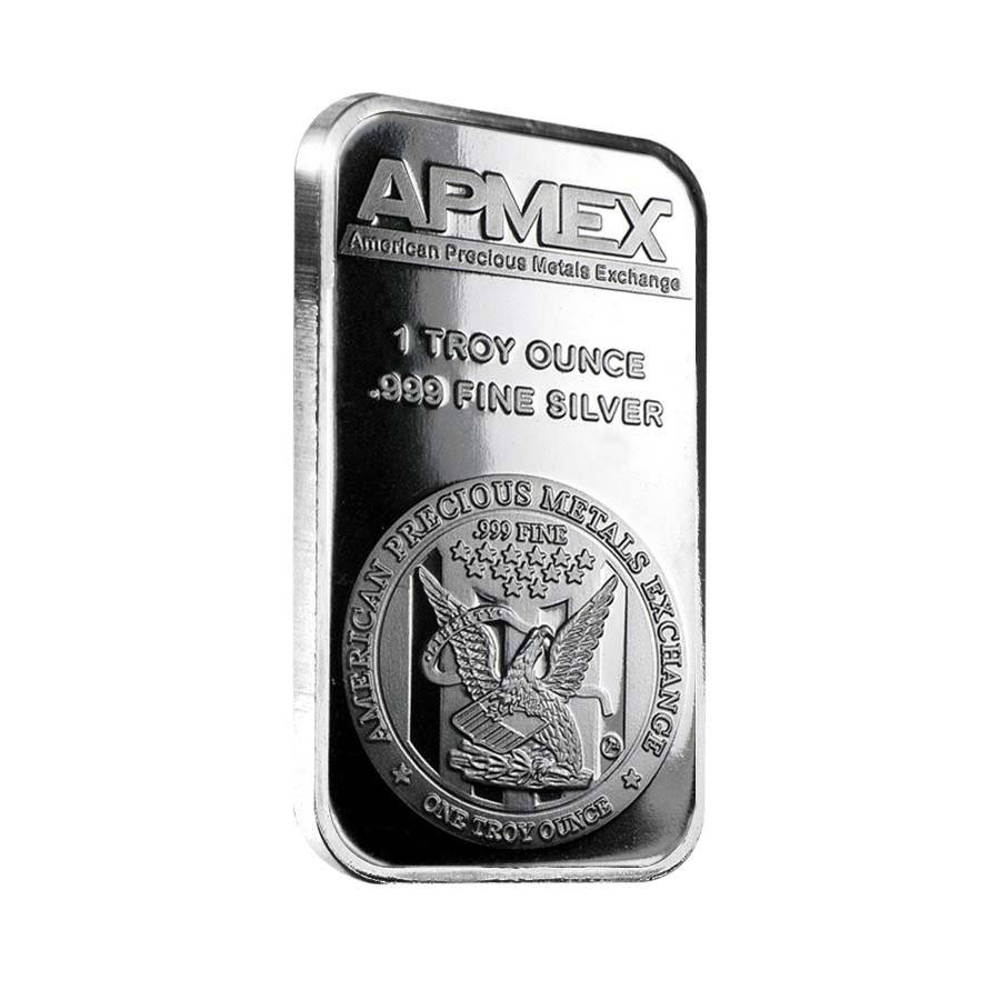 1 Oz Apmex Silver Bar 999 Fine Bullion Exchanges