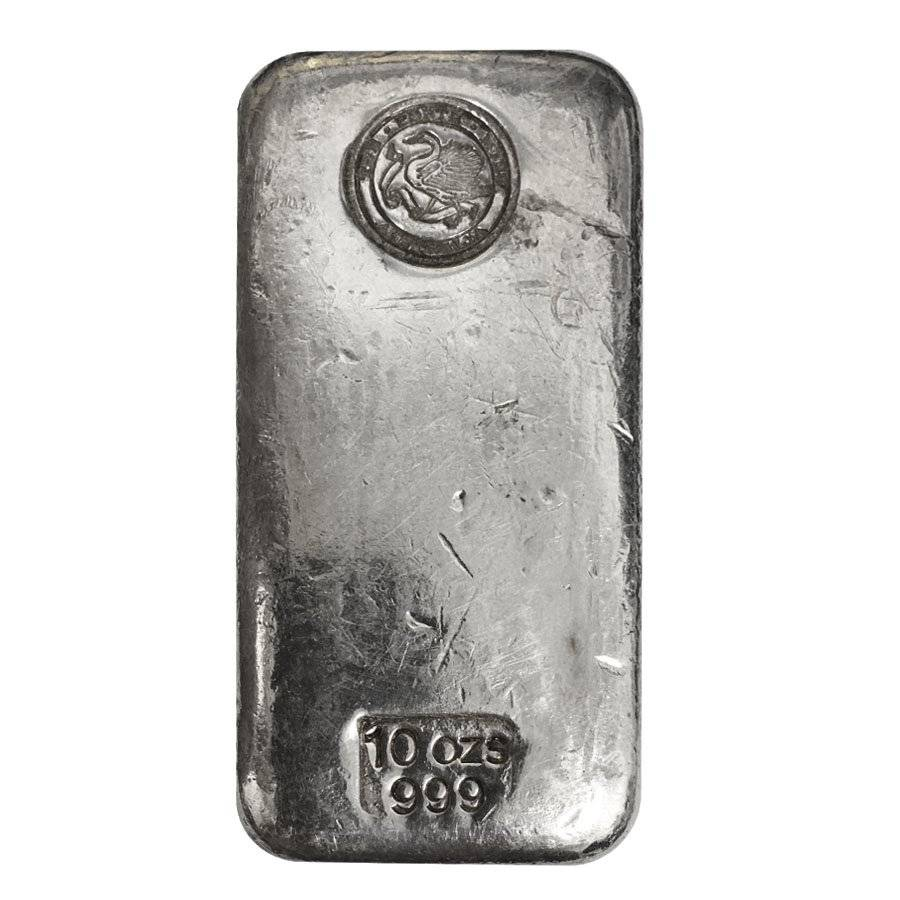 10 Oz Australia Perth Mint Silver Bar Bullion Exchanges