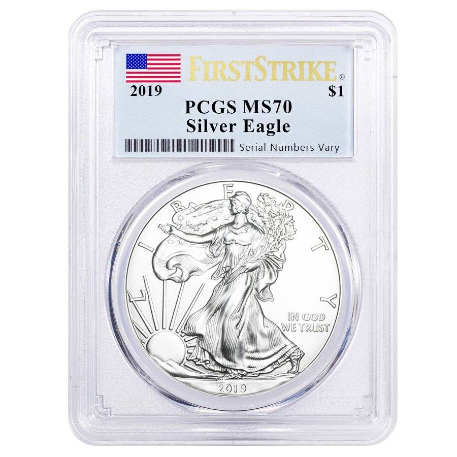 2019 $1 American Silver Eagle PCGS MS70 Liberty Coin Act Label