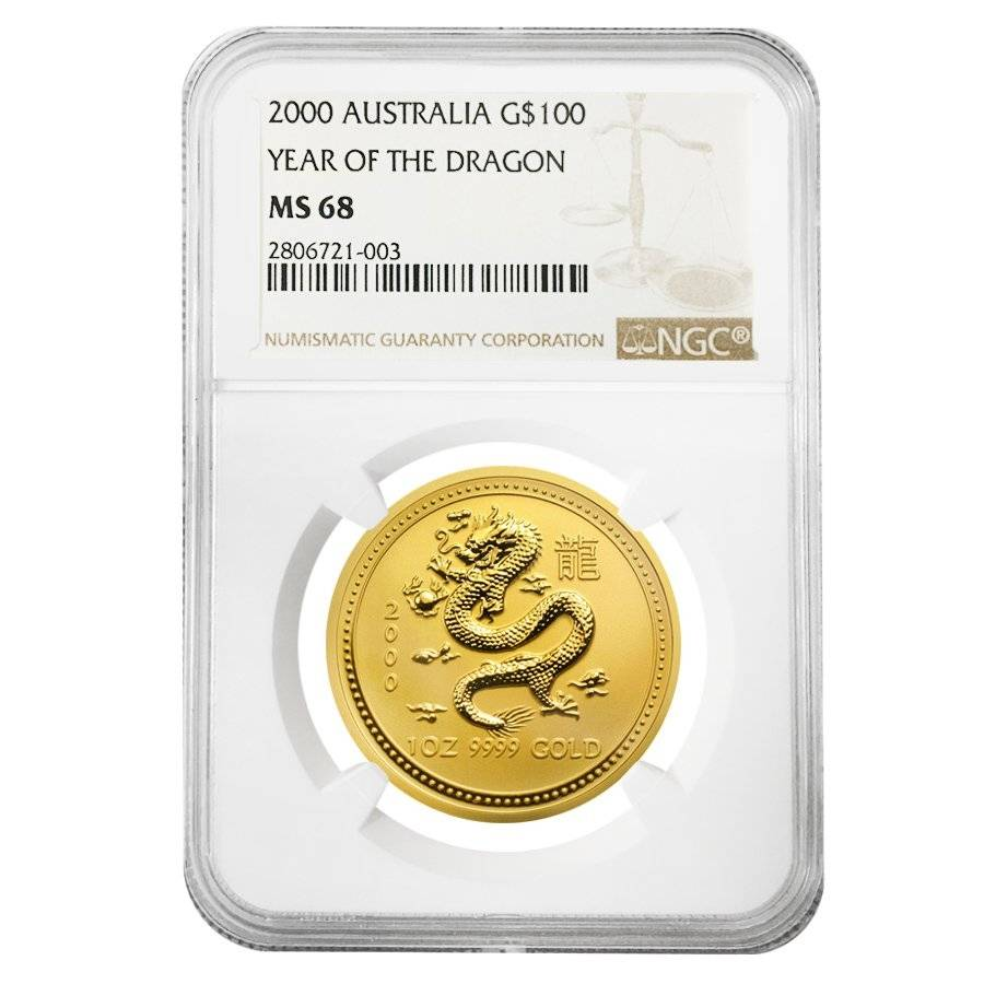 2000 year of the dragon 1 oz gold coin golden dragon horn lake ms