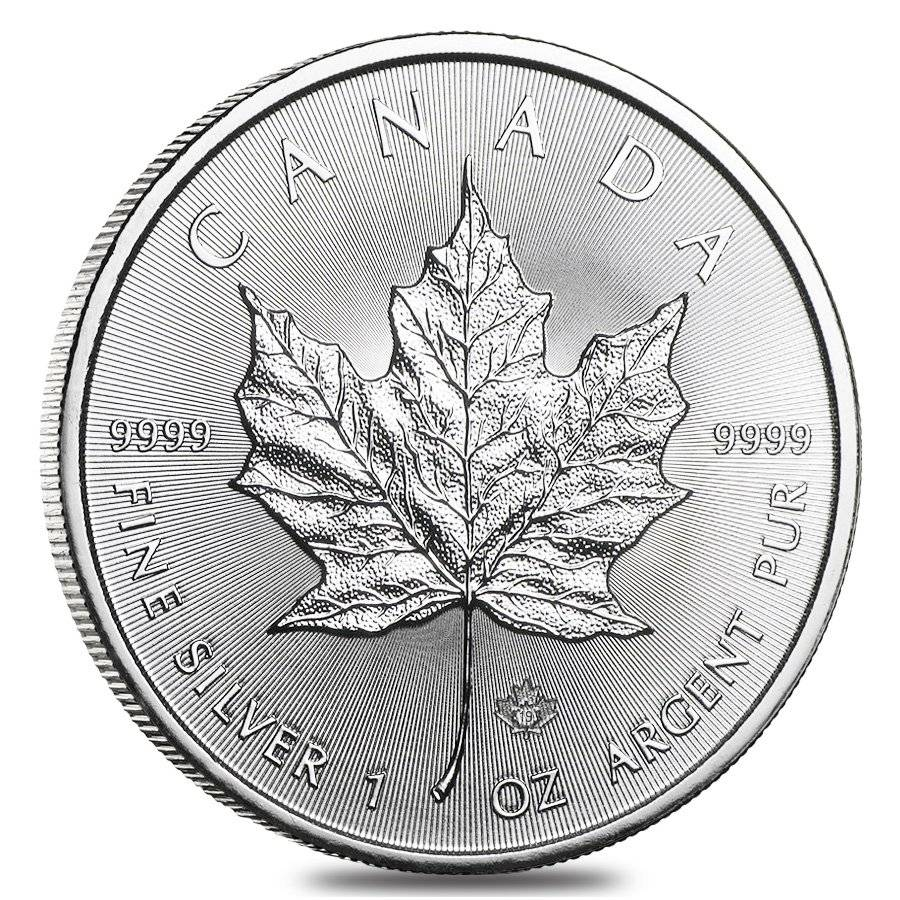 2019 1 Oz Canadian Silver Maple Leaf Coin Bu Bullion