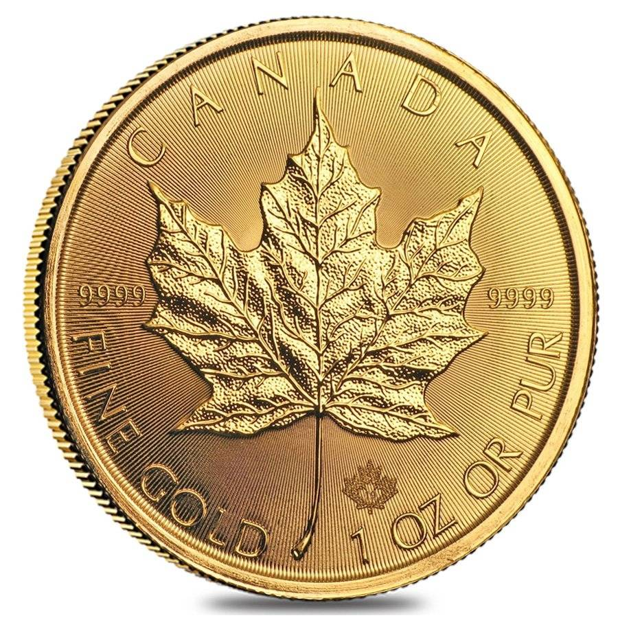 Buy 2019 Gold Maple Leaf 1 oz Canadian $50 Coin .9999 Fine BU