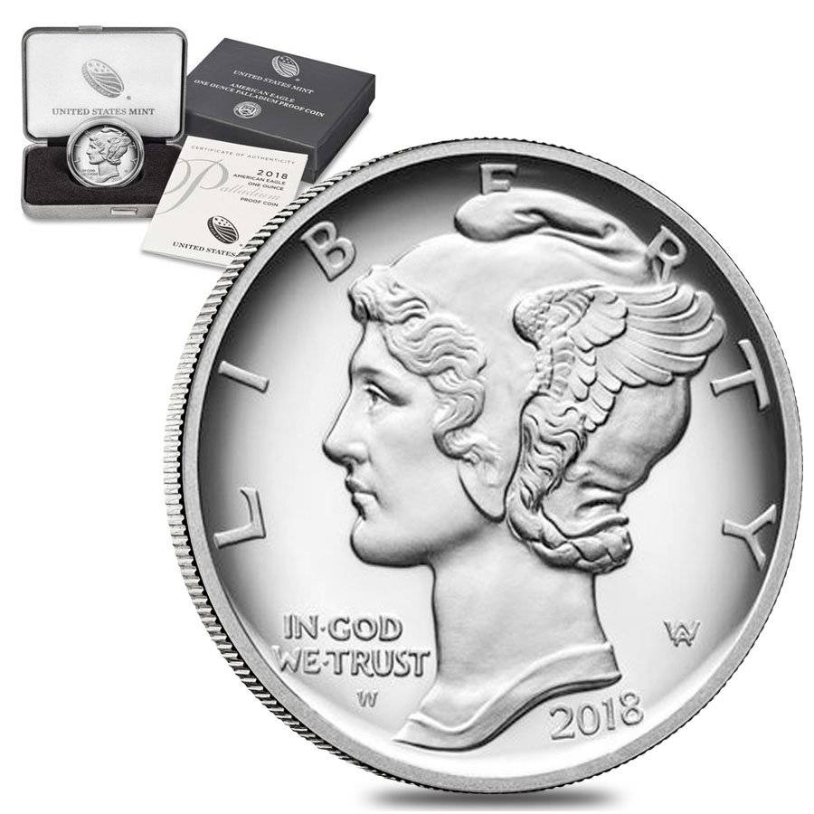American Eagle 2018 One Ounce Palladium Proof Coin IN ORIGINAL MINT SEALED BOX