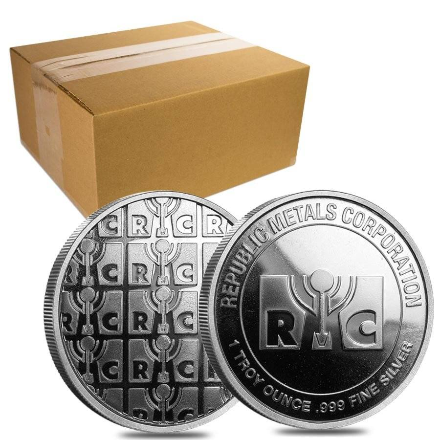 1 Oz Republic Metals Rmc Silver Round Bullion Exchanges