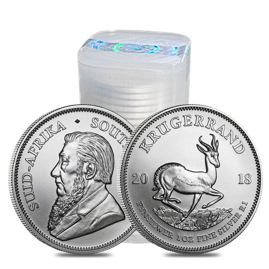 BU, Lot of 10 2018 1 oz South African Silver Krugerrand Coin