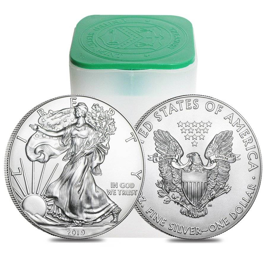 Roll Of 20 2019 1 Oz Silver Eagle Coin Bu Bullion