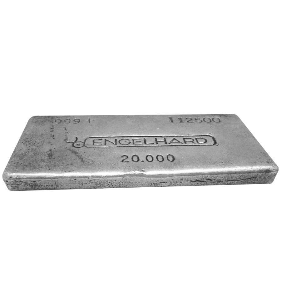 20 Oz Engelhard Silver Bar 999 Rare Bullion Exchanges