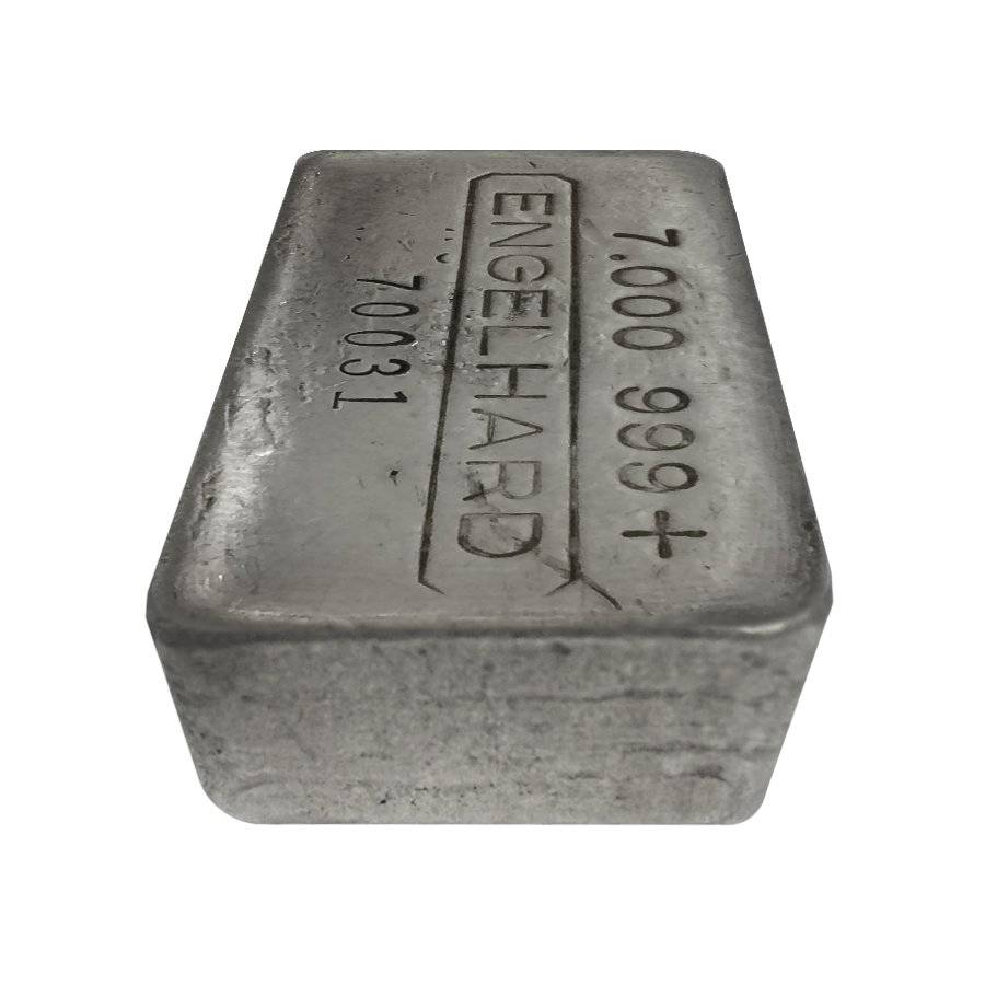 7 Oz Engelhard Cast Finish Silver Bar Rare Bullion Exchanges