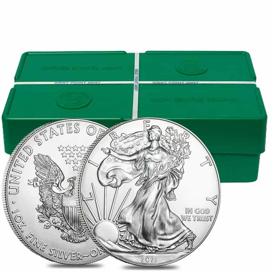 AMERICAN SILVER EAGLE COIN ***FIRST STRIKE*** FROM A U.S 2021 1 OZ MINT TUBE