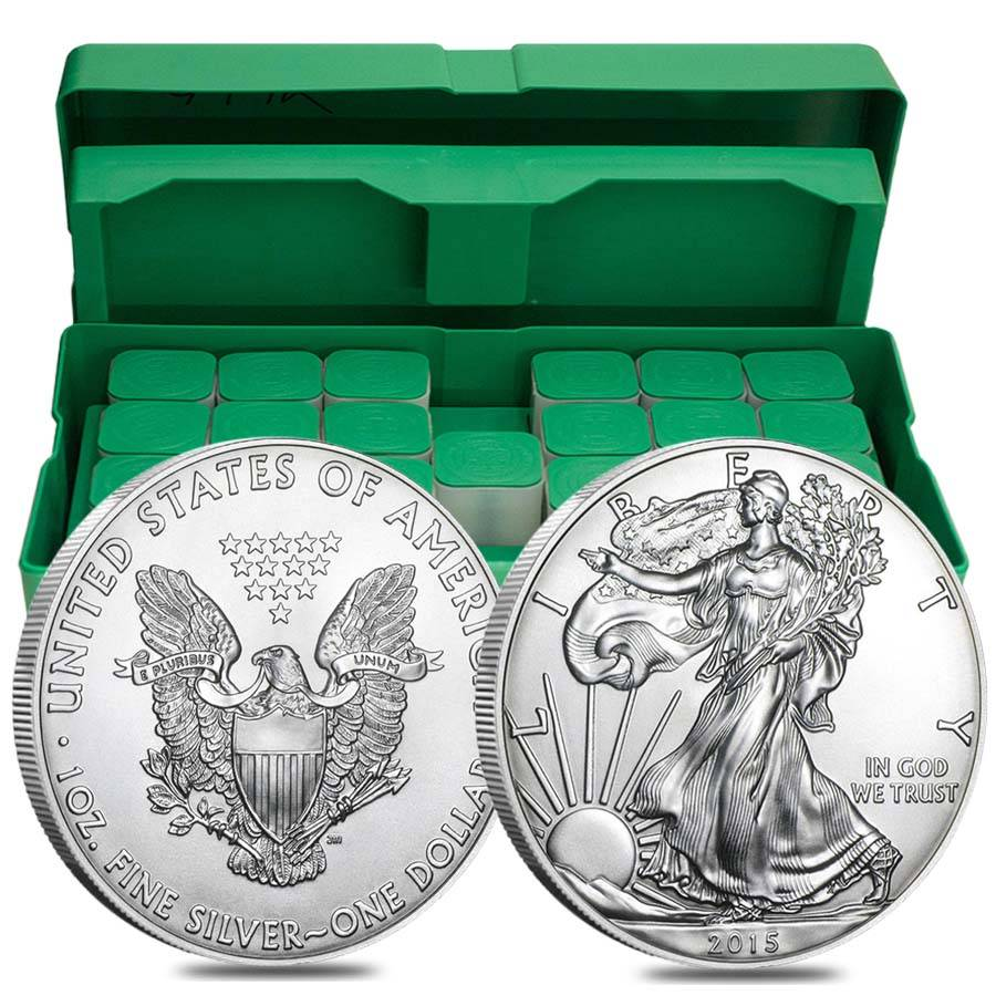 Box Of 500 2015 1 Oz Silver Eagle Bu Bullion Exchanges