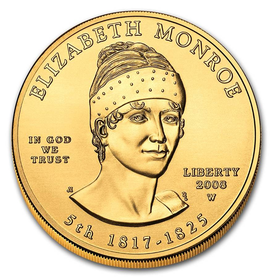 2008 W 1 2 Oz First Spouse Elizabeth Monroe Bullion