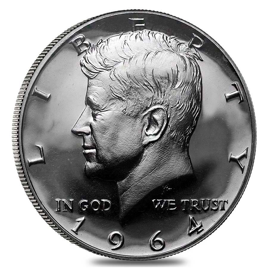 $10 Face Value 1964 Kennedy Half Dollars 90% Silver Roll Proof