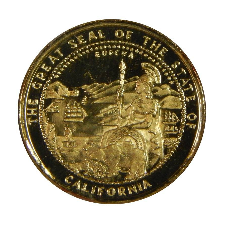 1984 The Great Seal Of California Gold Round Bullion Exchanges