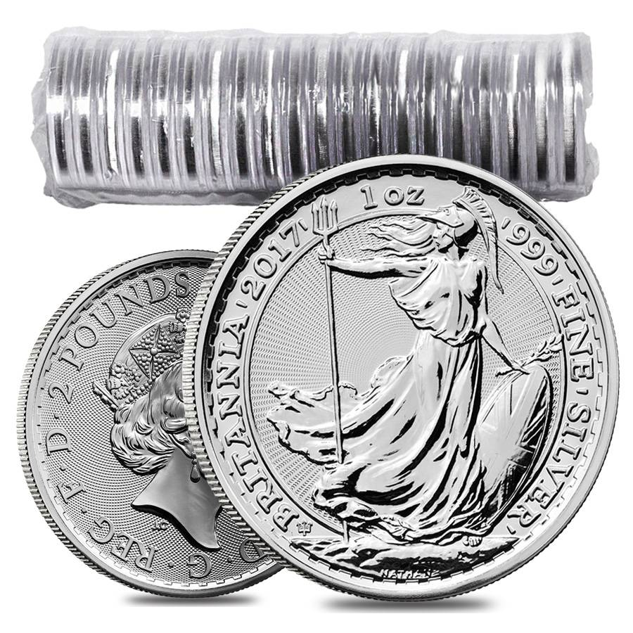 2017 Great Britain 1 Oz Silver Britannia 20th Anniversary Coin