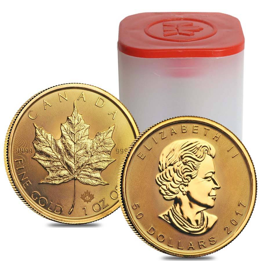 2017 1 Oz Canadian Gold Maple Leaf 50 Coin
